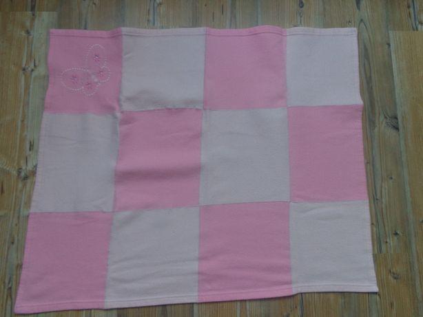 Kocyk różowy 75x90