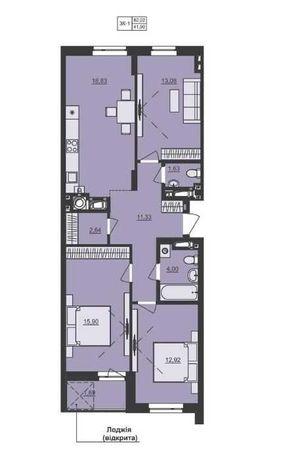 Квартира 3-к від забудовника в Жк Семицвіт