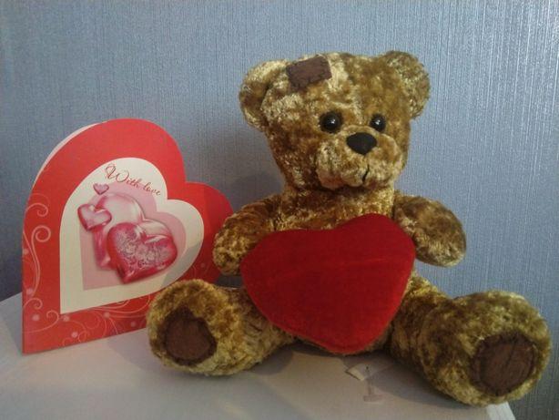Отличный подарок Плюшевый Мишка Тедди Teddy Bear 18см CЄ для UK сердце