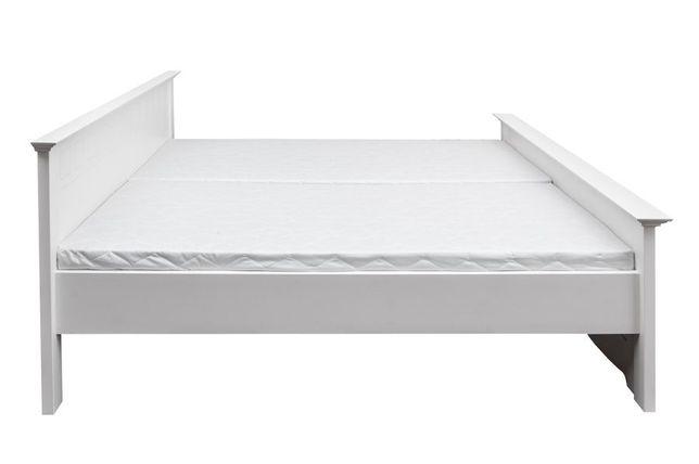 Łóżko białe z drewna 120x200
