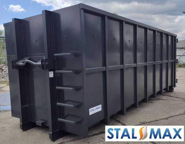 Kontener hakowy 33, 36 STAL-MAX, transportowy, złom, odpady, hakowiec