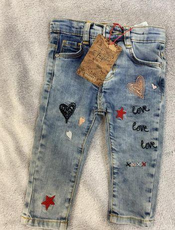 Новые детские джинсы, штанишки 68-74,
