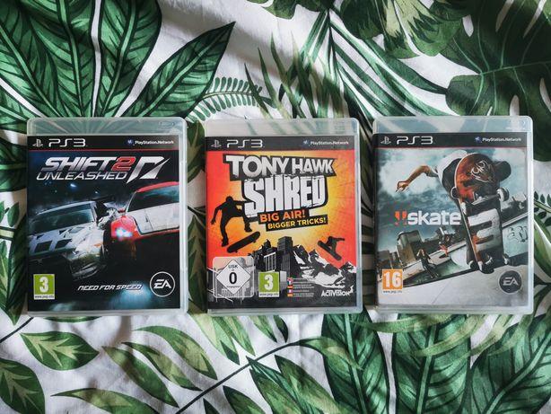 Komplet 3 gier PS3 plus deska