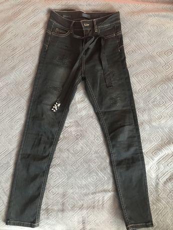 Czarne jeansy damskie xs