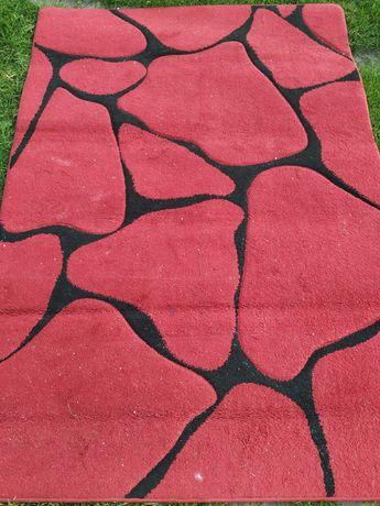 Dywan dywany czerwony miękki gruby