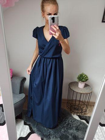Granatowa sukienka Pakuten rozmiar S/M nowa