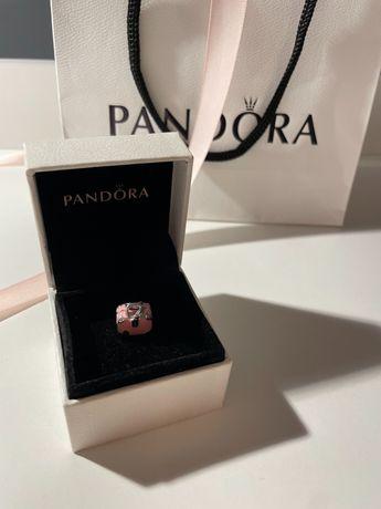 Charms Pandora walizka podróżna różowa torba podróżna srebro zawieszka
