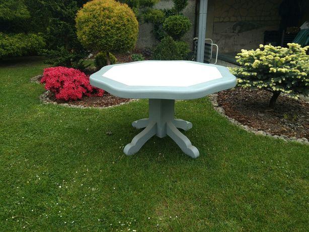 Stół debowy  osmiokatny, meble ogrodowe