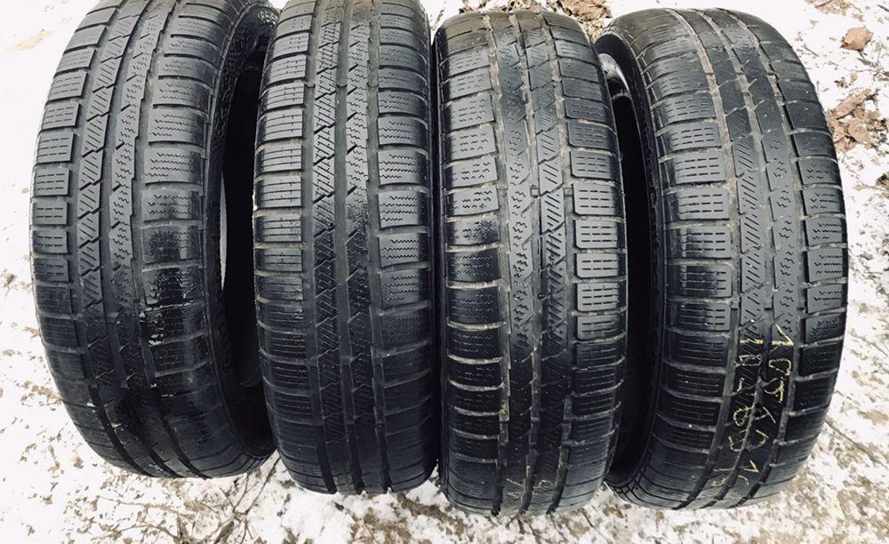Continental 185/60r16 4 шт зима рези шины б/у склад Хмельницкий - изображение 1