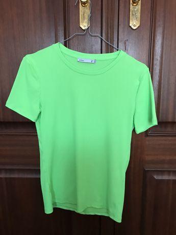 Tshirt verde florescente da Lefties- Tamanho S