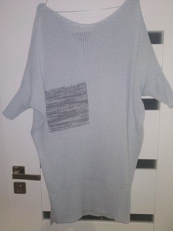 Długi sweter tunika M/L