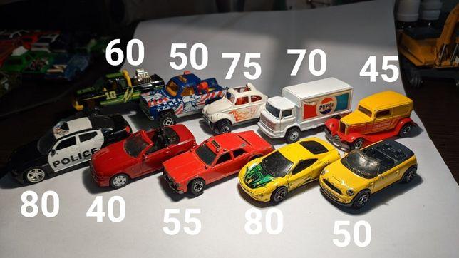 Машинки модели hot wheels matchbox majorette corgi maisto bburago