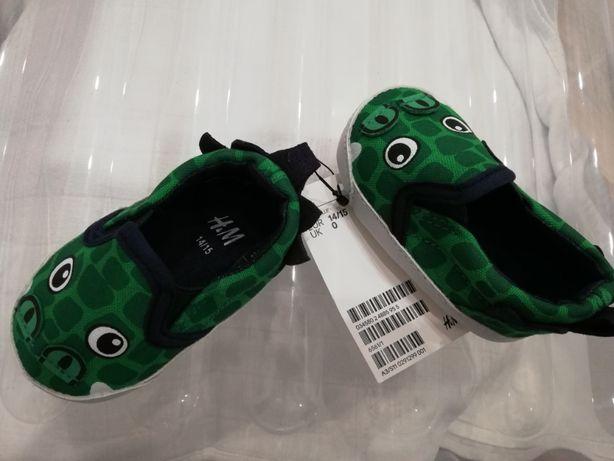 Buciki niechodki zielone h&m