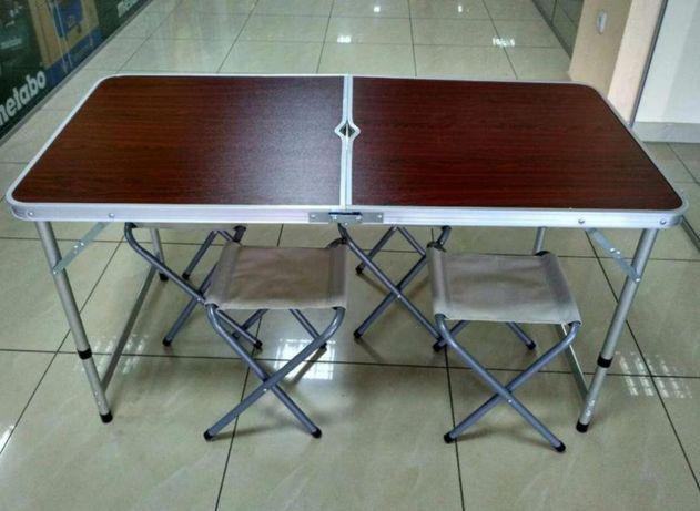 Походный стол раскладной в комплекте стулья