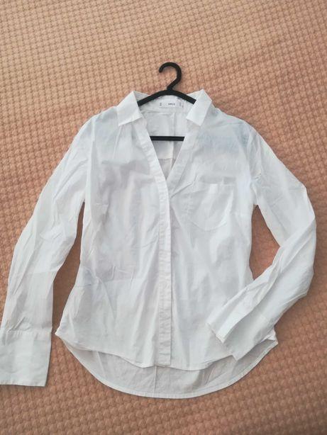 camisas brancas H&M e Mango