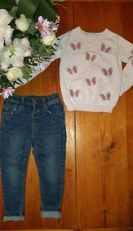 Свитер джинсы на девочку набор primark