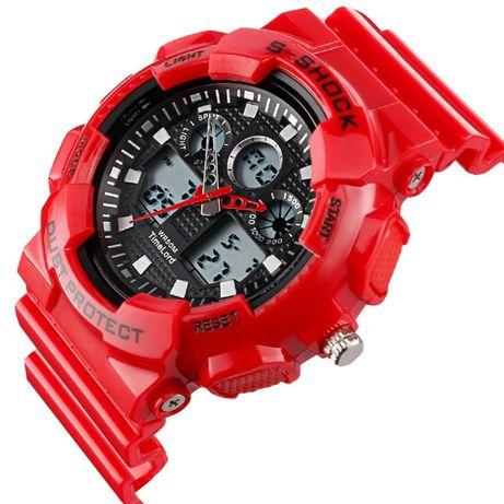 Męski damski zegarek S-SHOCK czerwony - wygląd jak G piękny