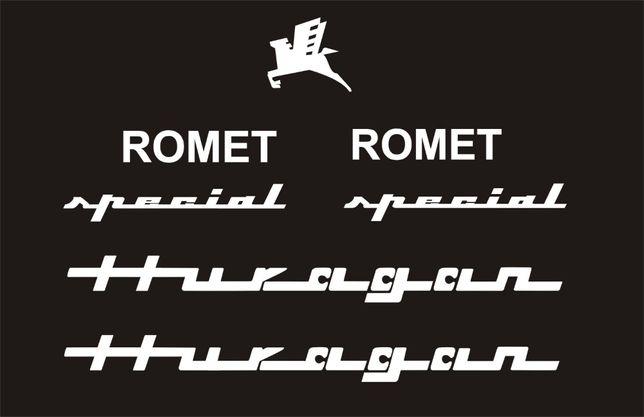 HURAGAN ROMET 147-2R białe naklejki RÓŻNE KOLORY
