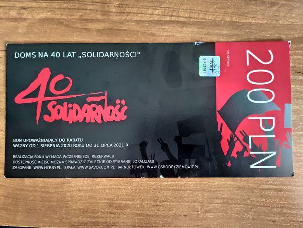 Bon 200zł 40 lecie Solidarności.