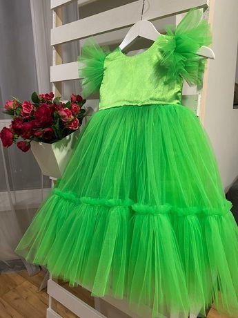 Платье вечернее пышное, фатиновая юбка, нарядное платье