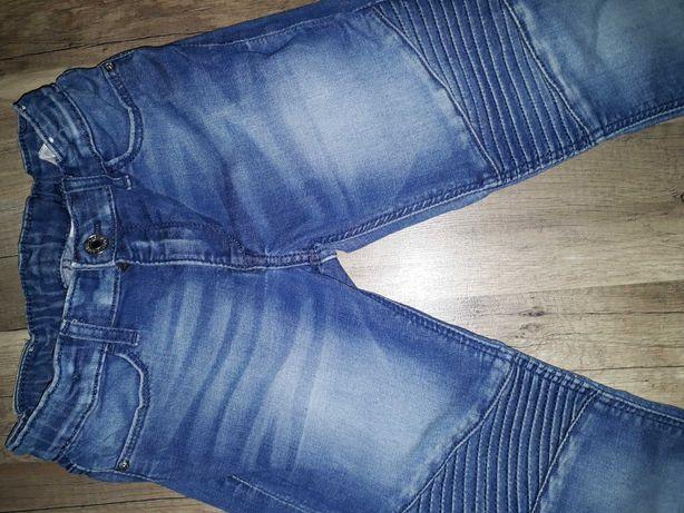 rurki, jeansy skinny fit denim H&M r. 128