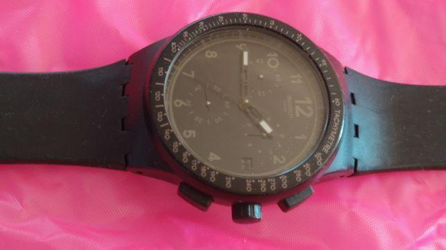 Relógio Swatch Preto Original com vários funções, como novo.