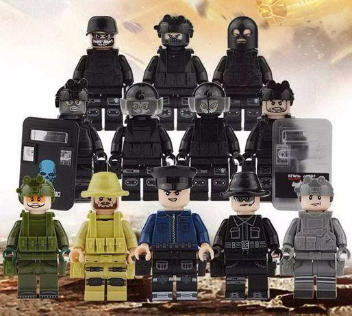 Военные фигурки лего SWAT конструктор полиция спецназ армия оружие