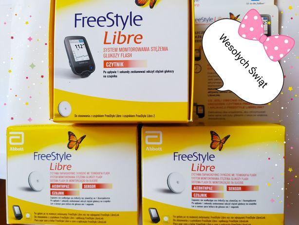 zestaw do monitorowania glikemii freestylelibre nowy czytnik+2czujniki