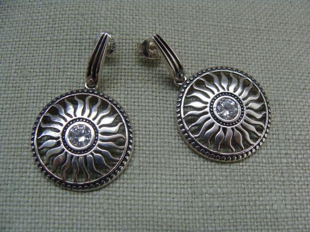 Kolczyki srebrne z cyrkonią