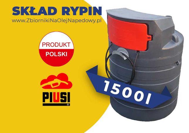 Skład Rypin - Zbiornik 1500L B na olej napędowy, paliwo ON 1000L 2000L