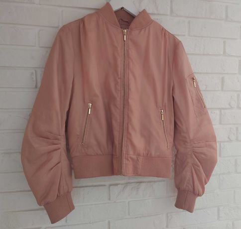 Bomber jacket pudrowy róż Missguided r.40
