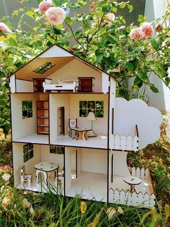 Красивий будиночок з деревцем для ляльок LOL,ігровий ляльковий будинок