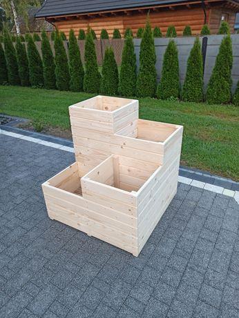 Donica kaskada drewniana
