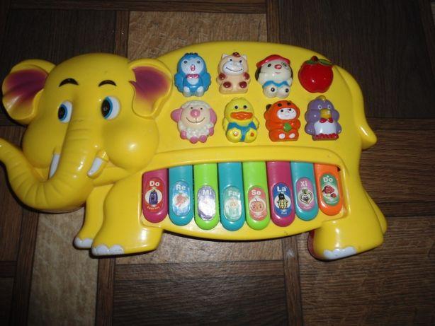 музыкальная игрушка пианино Слоник ок 30 см