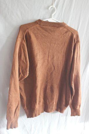 Brązowy sweter 45% kaszmir 55% jedwab vintage retro
