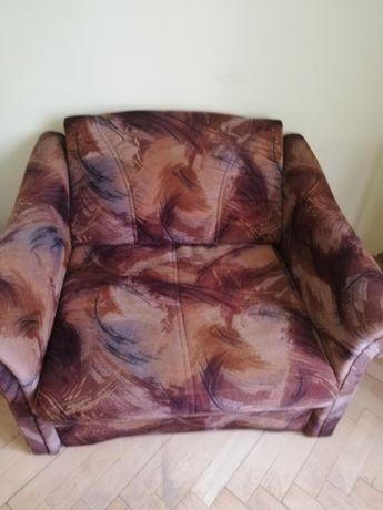 Fotel rozkładany duży. Łóżko.