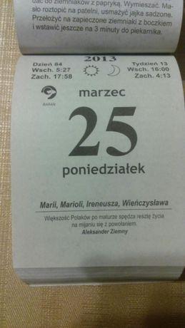 Kartka z kalendarza, 2013 r. prezent, upominek, rocznica