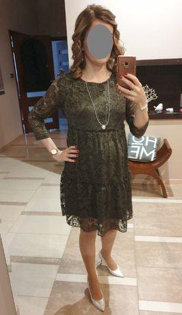 Sukienka ciążowa i do karmienia wizytowa Happymum XS / S