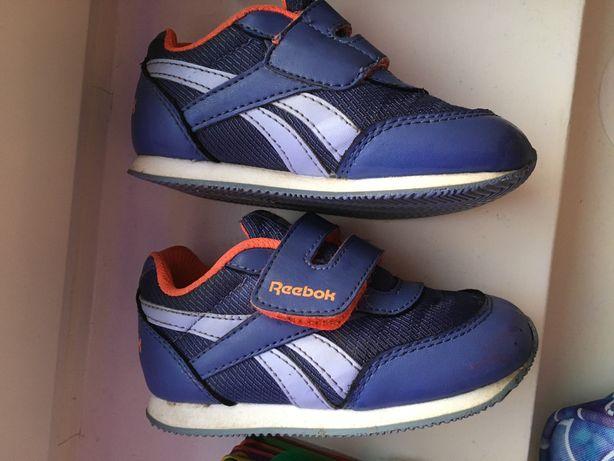Reebok Adidasy na rzep niebiesko-pomarańczowe rozmiar 23,5 dł 13 cm  L