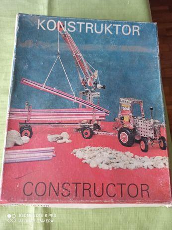 Vintage Prl Zabawki Konstruktor Traktor
