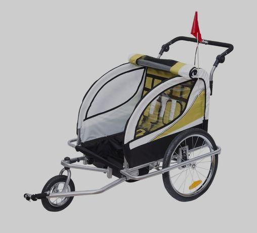 Nowa Przyczepka rowerowa dla dwojga dzieci