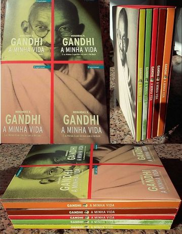 Coleções livros Expresso 2 Ghandi; Mário Soares; D. Schwanitz; M Gilb