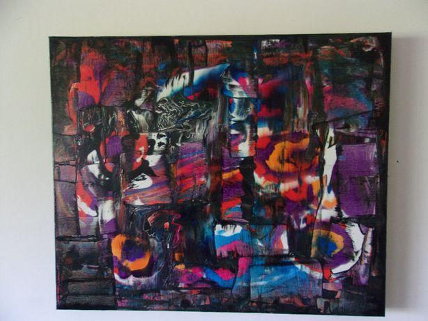 Quadro tela pintura abstrato