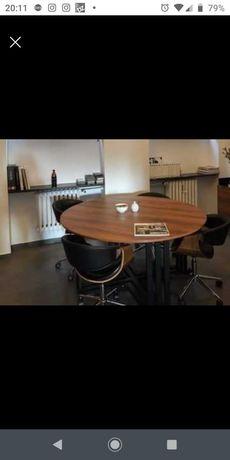 Stół okrągły - biurowy , blat laminat.