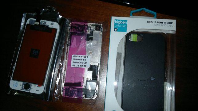 iphone 5S visor,carcaça completa,capa rigida e pelicula
