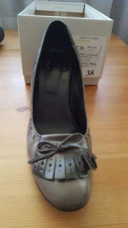 Skórzane buty damskie włoskie 38/39