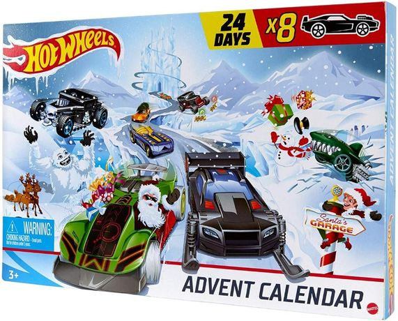 Адвент Календар Hot Wheels 24-денні святкові сюрпризи з автомобілями