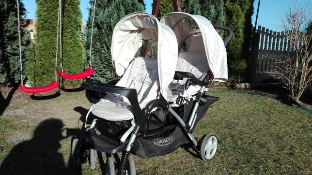 Wózek dla bliźniąt spacerówka graco duo