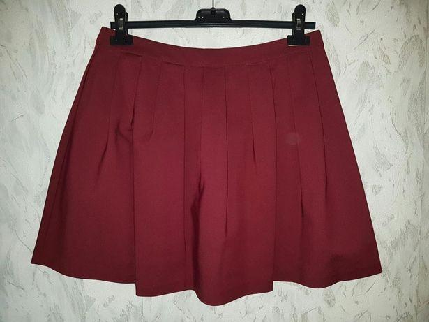 TIFFI Bordowa Spódnica Rozkloszowana M