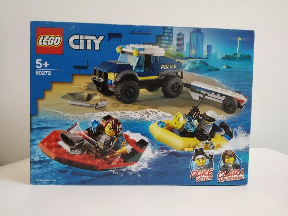 LEGO CITY 60272 Transport Łodzi policyjnej specjalnej NOWE Warszawa - image 1
